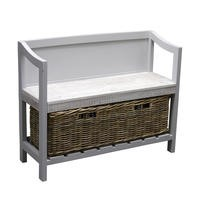 Signature North Fairburn Painted Storage Bench with Basket