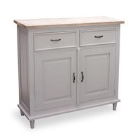 Signature North Fairburn White and Pine 2 Drawer 2 Door Sideboard