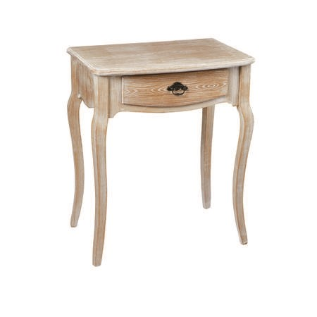 LPD Provence Lamp Table in Weathered Oak Finish