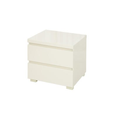 lpd puro high gloss bedside table in cream furniture123. Black Bedroom Furniture Sets. Home Design Ideas