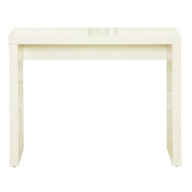 lpd puro console table in cream high gloss furniture123. Black Bedroom Furniture Sets. Home Design Ideas