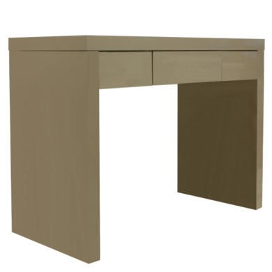 LPD Puro High Gloss Dressing Table in Stone