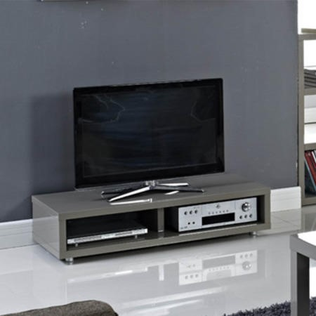 LPD Puro High Gloss TV Stand in Grey - TV's up to 45""