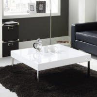 Tiffany White High Gloss Square Coffee Table