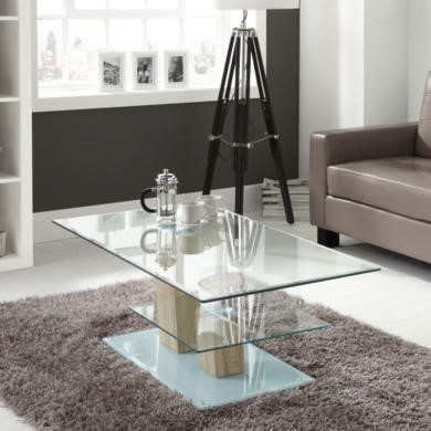 Tiffany 2 Tier Glass Coffee Table