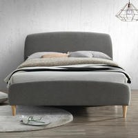 Birlea Quebec Upholstered Grey Double Bed