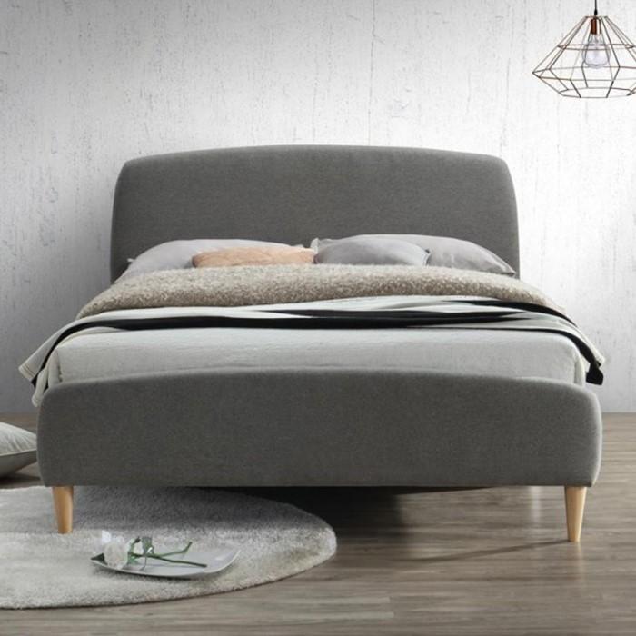 birlea quebec upholstered grey small double bed furniture123. Black Bedroom Furniture Sets. Home Design Ideas
