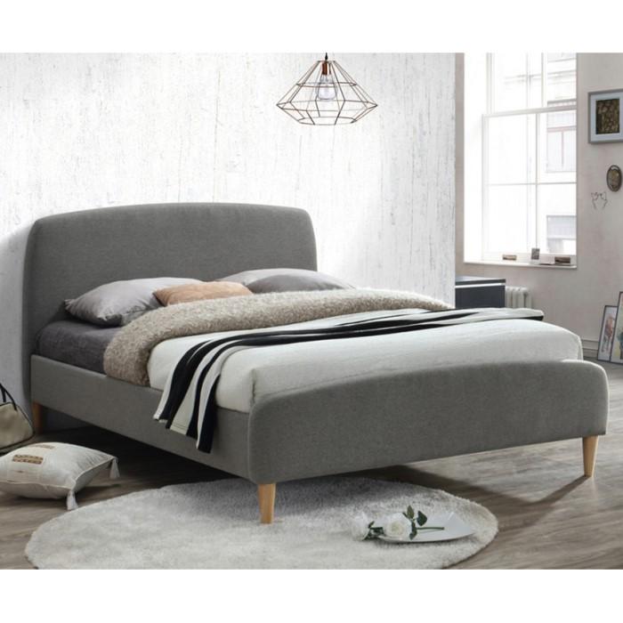 Birlea quebec upholstered grey double bed furniture123 for Bathroom furniture quebec