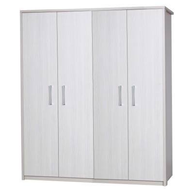 One Call Furniture Avola Premium 4 Door Wardrobe in Cream