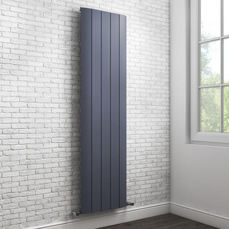 Vertical Anthracite Tall Flat Radiator - 1800 x 470mm