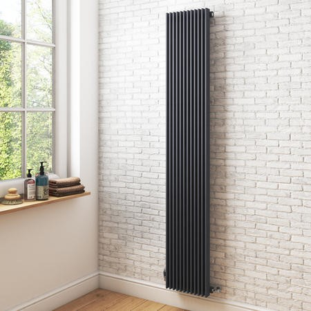 Vertical Tall Anthracite Radiator - 1800 x 324mm