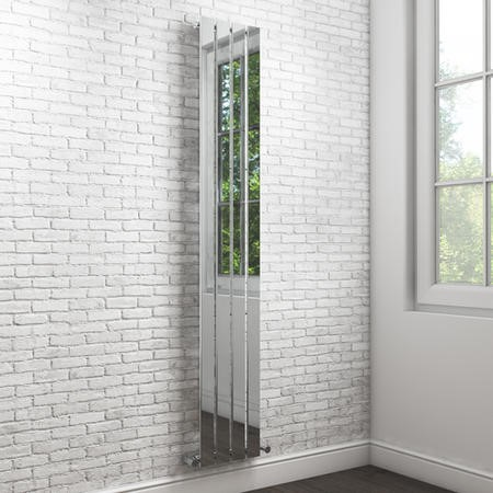 Chrome Vertical Tall Bathroom Radiator - 1800 x 300mm