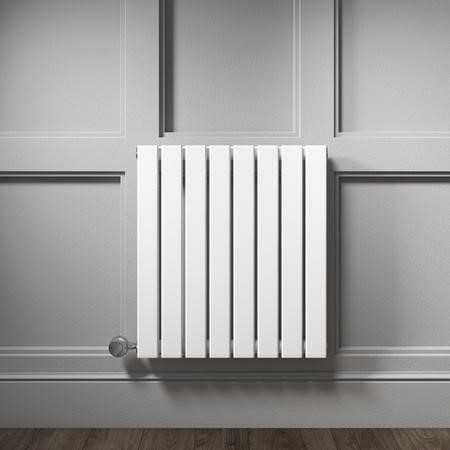 White Horizontal Flat Panel Radiator - 600 x 600mm