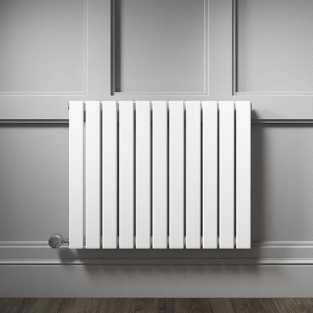 White Horizontal Flat Panel Radiator - 600 x 836mm
