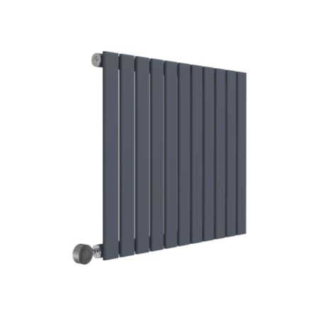 Horizontal Modern Designer Flat Panel Anthracite Radiator - 600 x 836mm - 2259 BTU's
