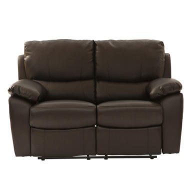 World Furniture Raffles 2 Seater Recliner in Brown
