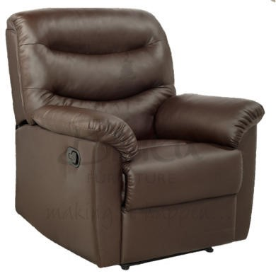 Birlea Furniture Regency PU Leather Recliner Chair in Brown