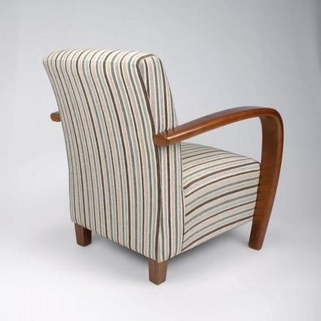 Restmore Stripe Duck Egg Blue Chair