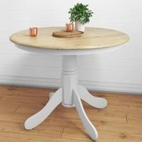 Rhode Island Round Dining Table in Soft White