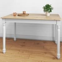 Rhode Island Rectangular Dining Table in Soft White