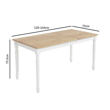 GRADE A1 - White Extendable Dining Table - Rhode Island