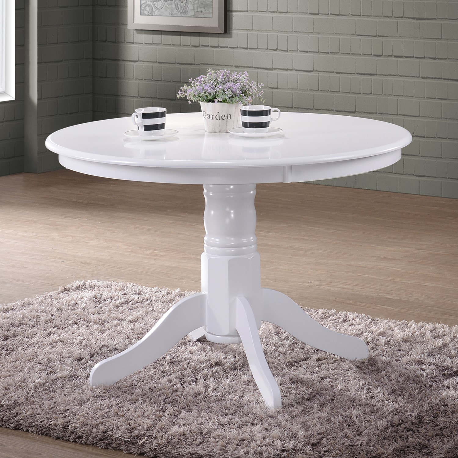 Grade A1 Rhode Island White Round Pedestal Dining Table 4 Seater
