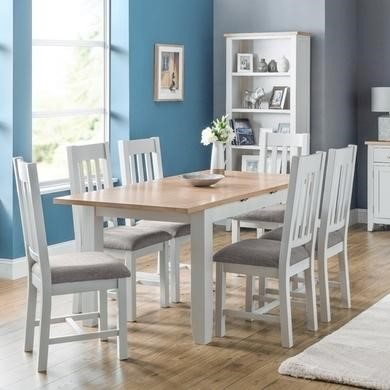 Julian Bowen Richmond Dining Set Table and 6 Richmond Chairs in Grey