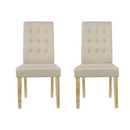 LPD Roma Beige Pair of Dining Chairs