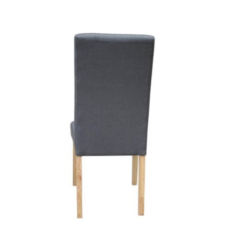 LPD Pair of Roma Grey Dining Chairs with Button Back Detailling