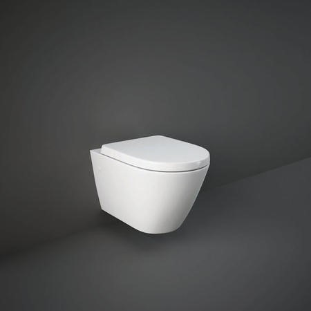 RAK Resort Rimless Wall Hung Toilet with Soft Close Seat