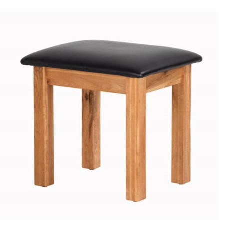 Cherbourg Rustic Oak Dressing Table Stool