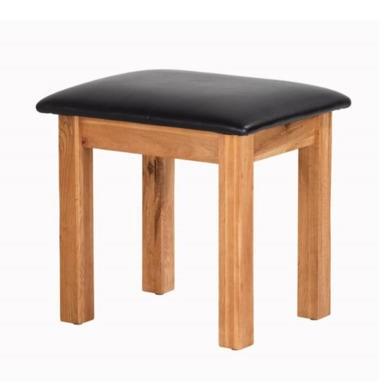 Heritage Furniture Cherbourg Rustic Oak Dressing Table Stool