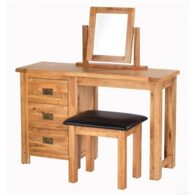Heritage Furniture Cherbourg Rustic Oak Dressing Set