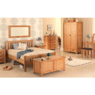 Heritage Furniture Cherbourg Rustic Oak King Size Bed Frame