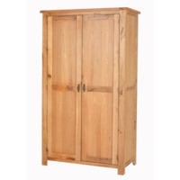 Cherbourg Rustic Oak Double Wardrobe