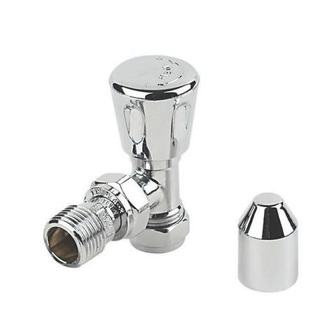 Angle radiator valve - Chromed Head