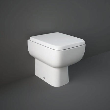 RAK Series 600 Back to Wall Pan with Slim Wrap Over Soft Close Seat