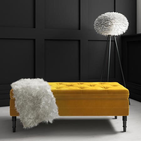 Safina Storage Bench in Mustard Yellow