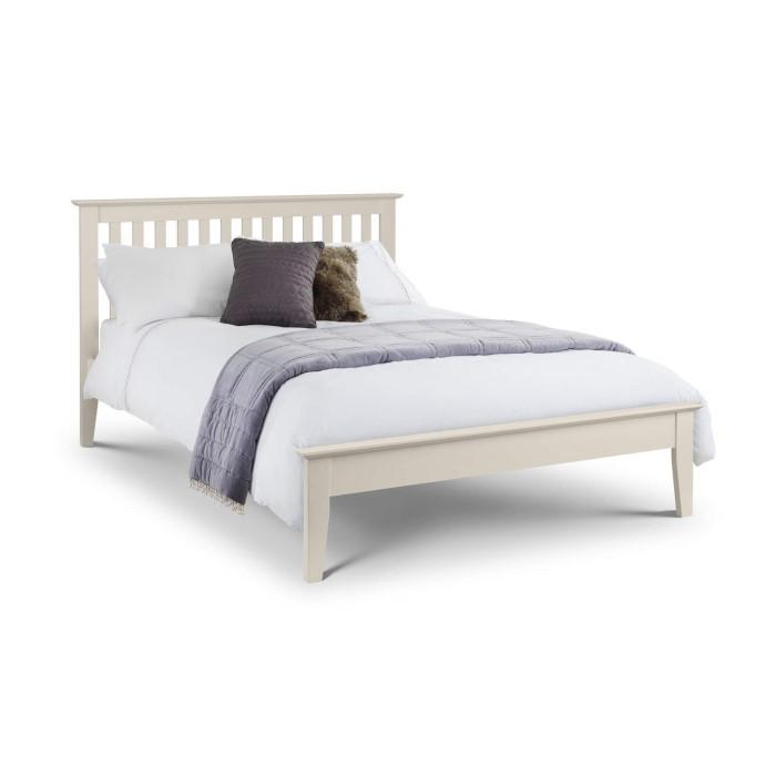 julian bowen salerno shaker ivory double bed frame - Double Bed Frames