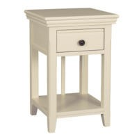 Savannah Solid Acacia Wood Bedside Table in Ivory