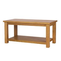 Rustic Saxon Solid Oak Coffee Table