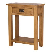 Rustic Saxon Solid Oak Console Table