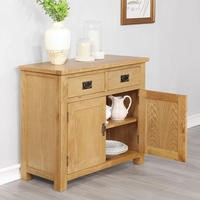 Rustic Saxon Solid Oak 2 Drawer 2 Door Sideboard