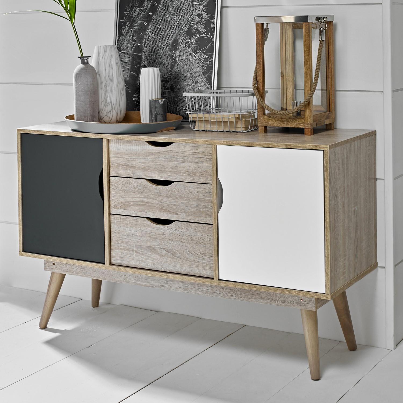 Inbouwkasten Retro Vintage Wooden Sideboard Storage Cabinet