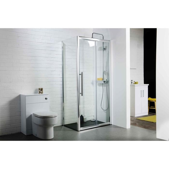 Claritas 8 glass sliding shower door 1400 x 1950mm 8mm for 1200 shower door 8mm glass