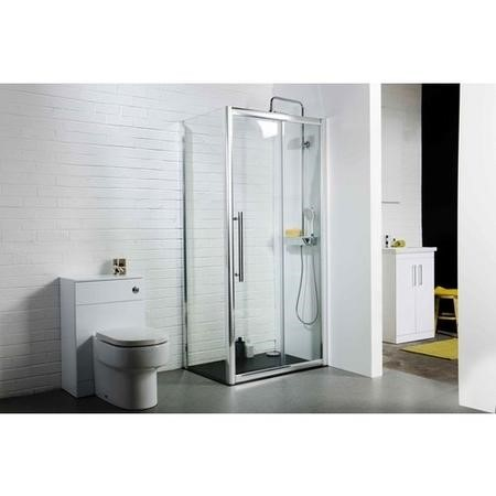 Claritas 8 Glass Sliding Shower Door 1400 x 1950mm - 8mm Glass