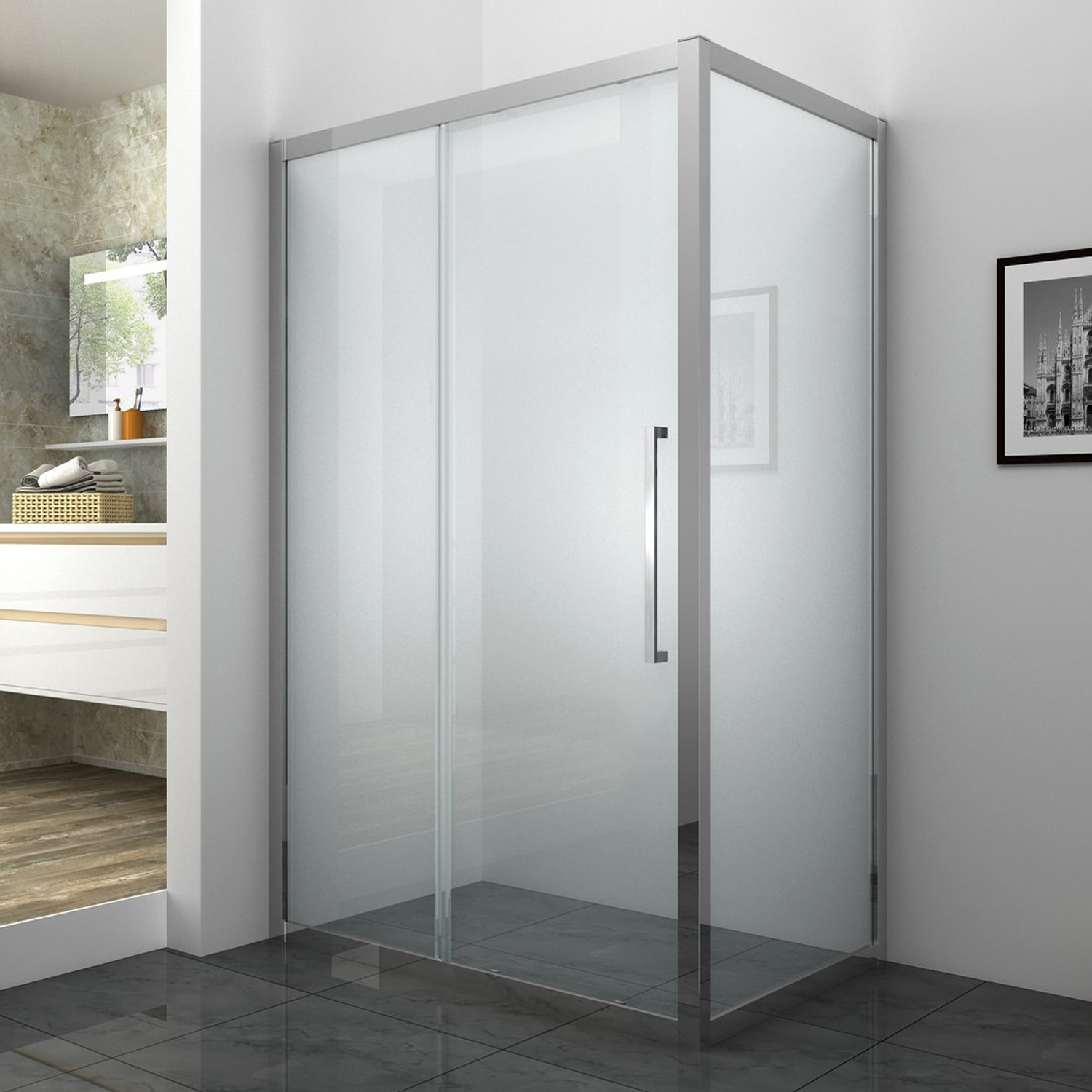 GRADE A1  Taylor & Moore SESP768 Shower Side Panel  W760 x 1850mm