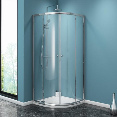 Taylor & Moore Quadrant Shower Enclosure with Twin Sliding Doors - 800 x 800mm