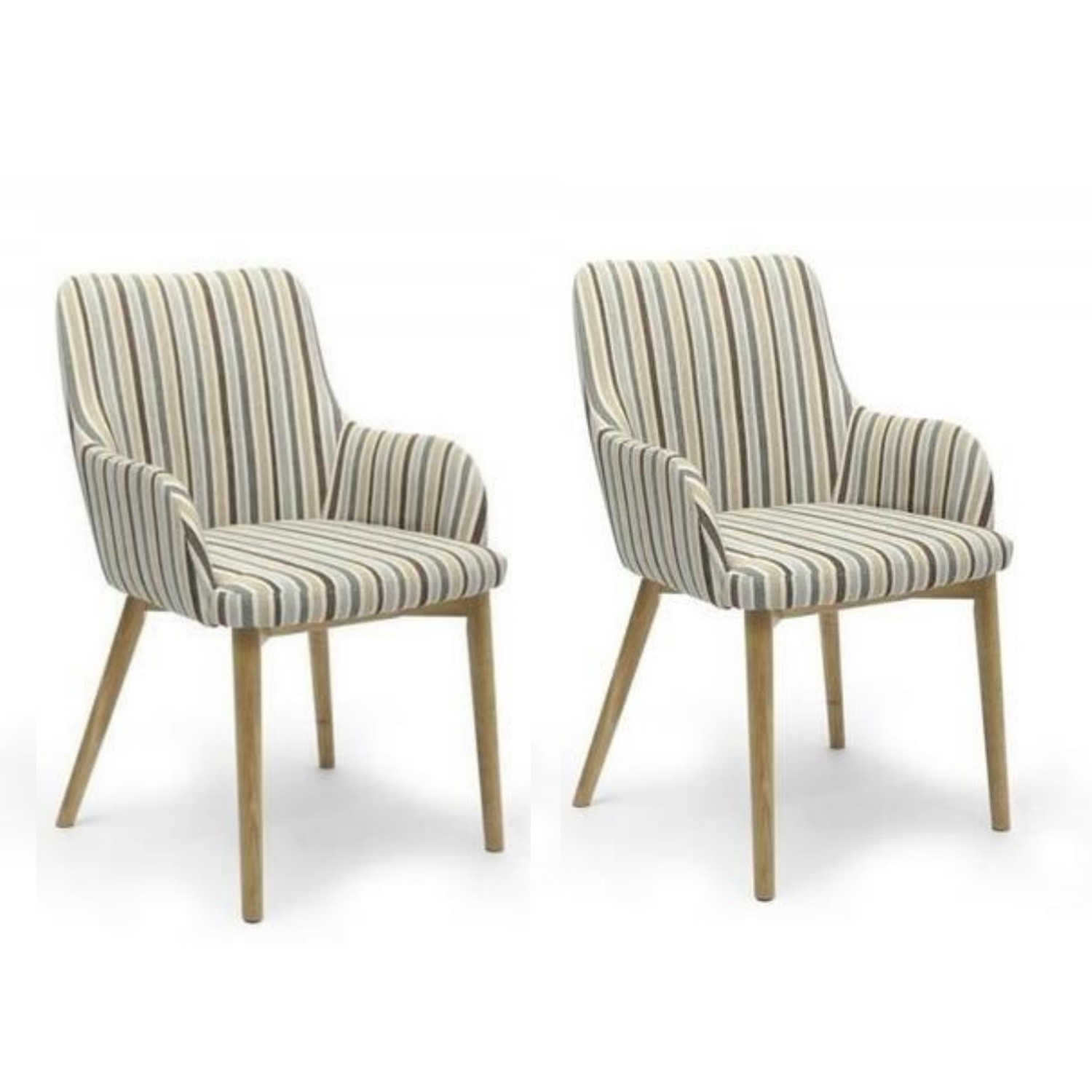 Swell Sidcup Pair Of Duck Egg Blue Stripe Dining Chairs Cjindustries Chair Design For Home Cjindustriesco