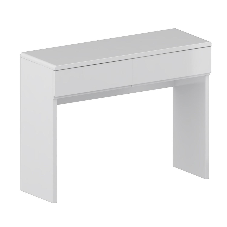 Skylar White Gloss Dressing Table - 12 Drawer